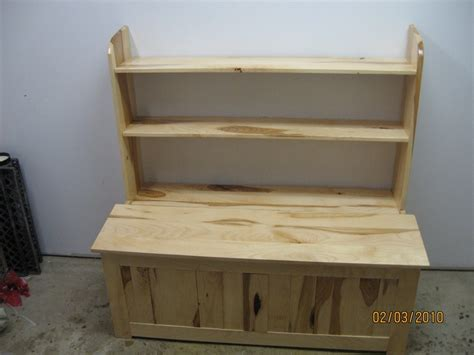 hickory box with book shelf room