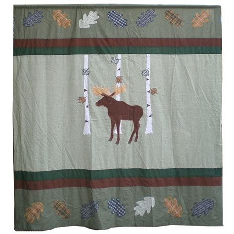 moose shower curtains moose in birch shower curtain
