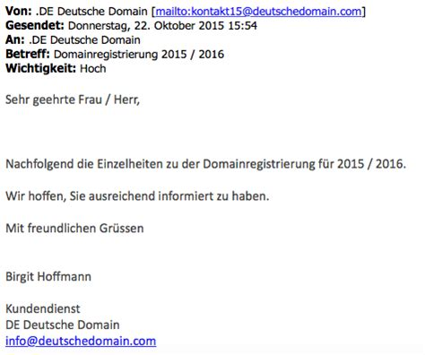 Freiberufler Rechnung Per Email Achtung De Deutsche Domain Verschickt Betr 252 Gerische Rechnungen