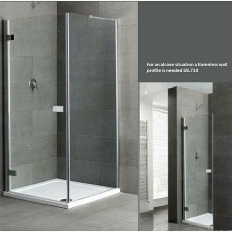 1000mm Shower Door Cotswold Volente Frameless Shower Door 1000mm