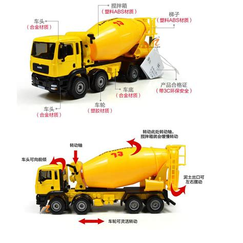 Diecast Miniatur Mixer Truck Cement Concrete Lorry Kdw Ori Harga Murah kdw 1 50 o scale diecast cement mixer truck construction vehicle cars model toys ebay