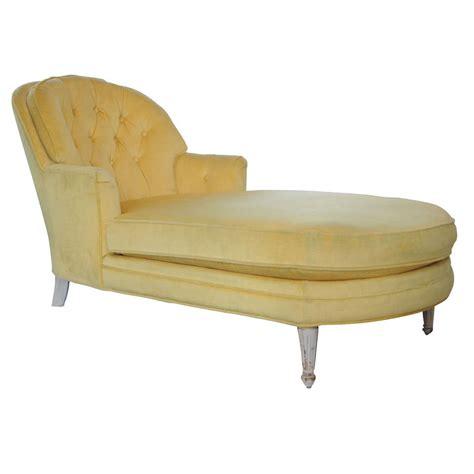 yellow velvet chaise lounge 1960 s yellow velvet chaise at 1stdibs