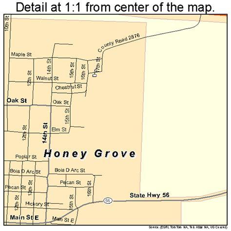 grove texas map honey grove texas map 4834700