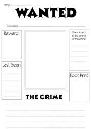 Free Wanted Poster Template For Kids English Teaching Worksheets Wanted Poster