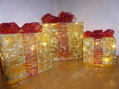 parcel lights light up glitter gold and indoor outdoor