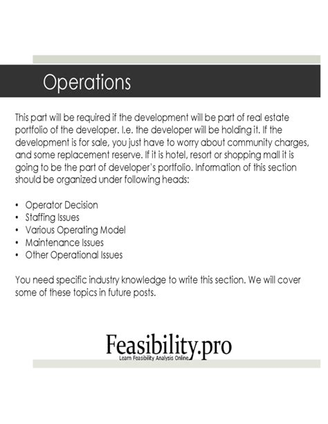 real estate feasibility study template feasibility study template free