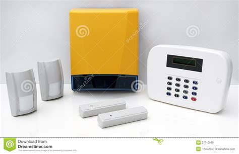 home security alarm system stock image image of burglar