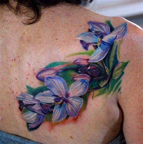 blue flower tattoo blue orchid flower phil garcia the best flower