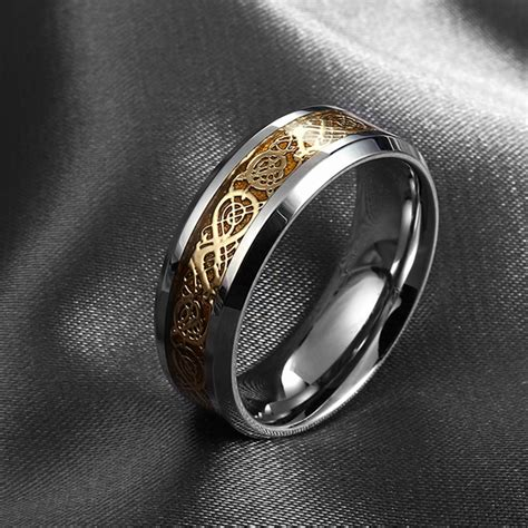 never fade stainless steel ring mens jewelry wedding band