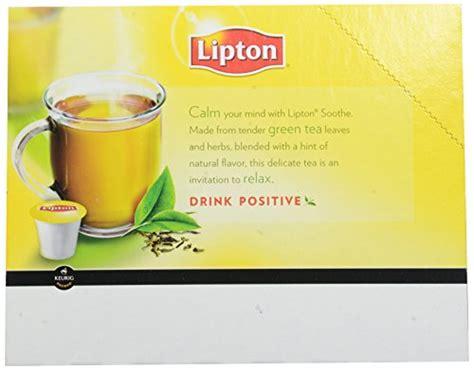 Detox Tea K Cups by Lipton K Cup Packs Soothe Green Tea 24 Count Dietary
