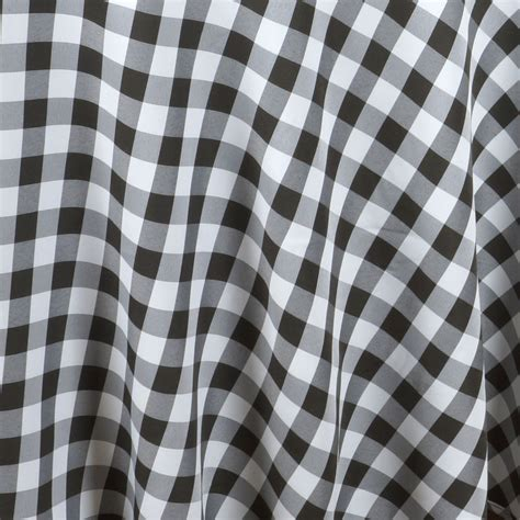 90 quot checkered gingham tablecloth polyester round linens wedding party ebay