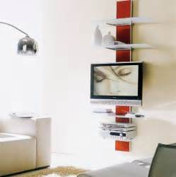 wall mounted tv with wall mounted shelves home decorating ideas