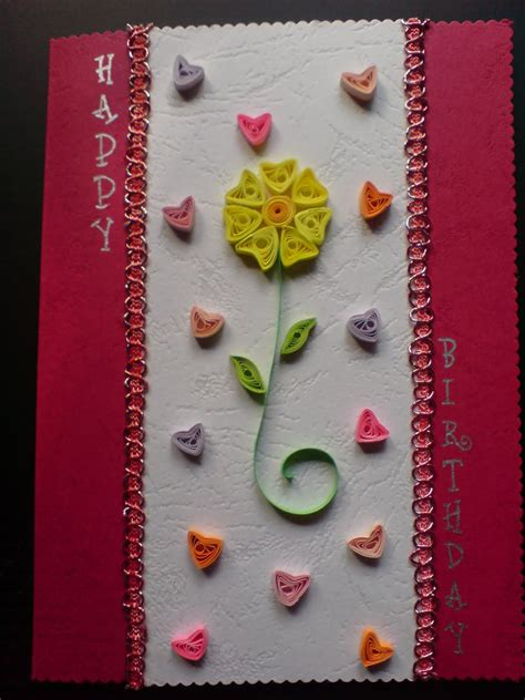 Handmade Birthday Greeting Cards - chami crafts handmade greeting cards hearts birthday card