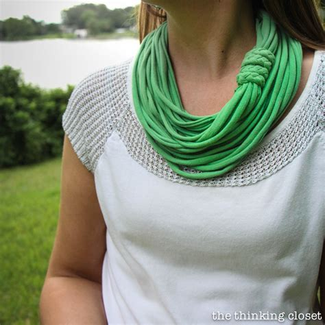 t shirt infinity scarf pattern 15 minute t shirt yarn infinity scarf video tutorial