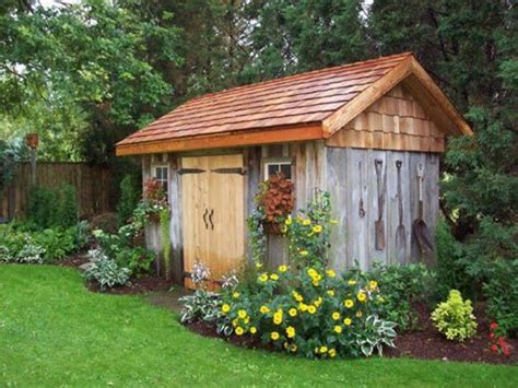 backyard shed ideas pretty garden shed garage pinterest