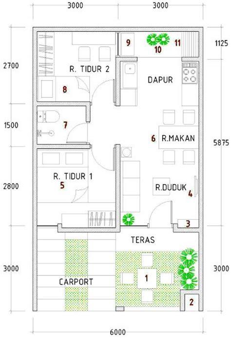 gambar  denah desain rumah type   home