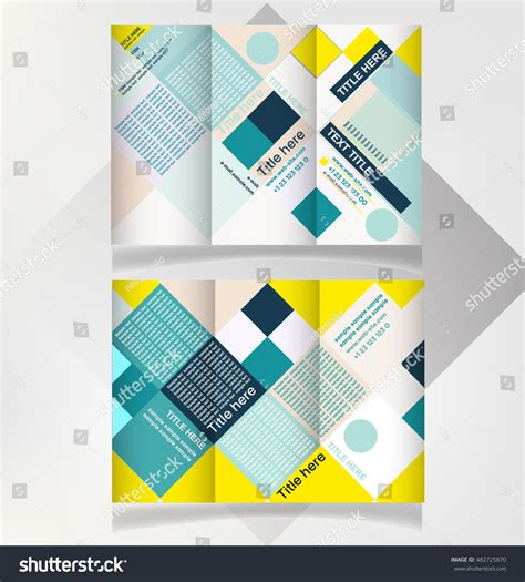 leaflet design trends brochure design brochure template creative rectangle stock