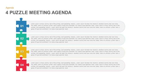 4 Puzzle Meeting Agenda Powerpoint Template And Keynote Powerpoint Meeting Agenda Template
