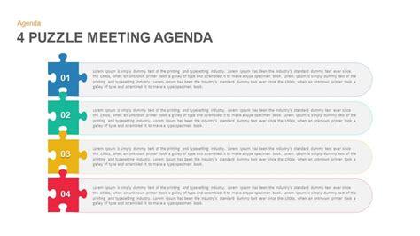 puzzle meeting agenda powerpoint template  keynote