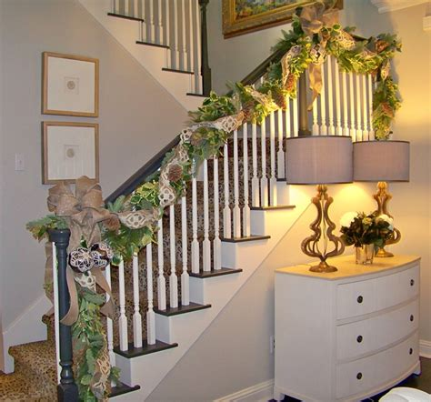 banister christmas garland banister garland pictures to pin on pinterest pinsdaddy