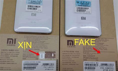 Hp Xiaomi Mi4w cara mudah mengetahui hp xiaomi original dan yang palsu