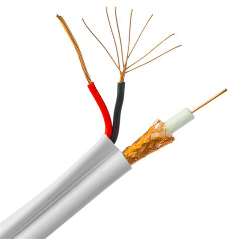 high power coaxial cables 500ft white plenum bulk rg59 siamese coaxial cable 18 2