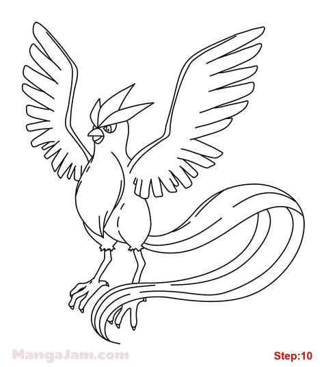 pokemon coloring pages articuno how to draw articuno from pokemon mangajam com