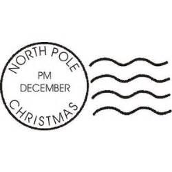 north pole postmark envelope christmas art rubber stamp