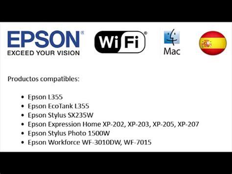 reset epson xp 202 wifi impresora epson l355 instalaci 243 n via wifi impresora e