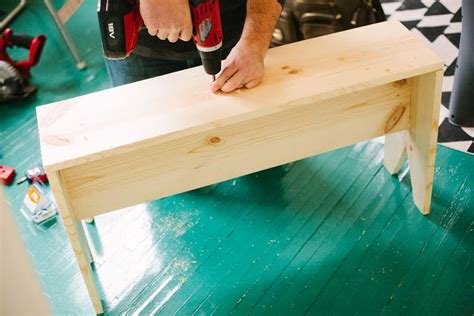 making a bench making a wooden bench ideas crafts diy pinterest