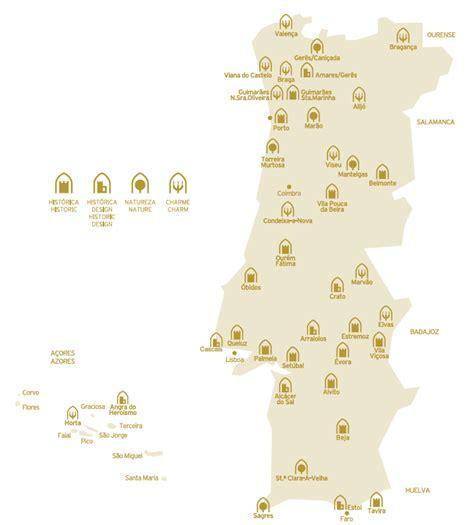 portugal pousadas map ibertours travel pousadas