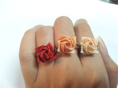 How To Make A Paper Ring Origami - origami ring 183 girlfriendnboyfriend 183 store