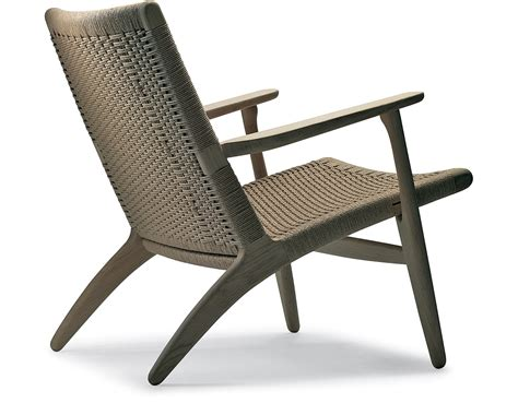 designer chairs ch25 lounge chair hivemodern com