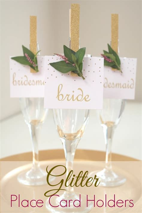 make place card holders glitter clothespin place card holders catch my