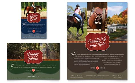 Horse Flyer Templates Free