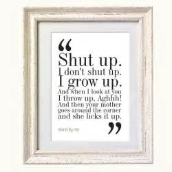 Stand By Me Essay by Stand By Me Quote Typography Print 8x10 On A4 Archival