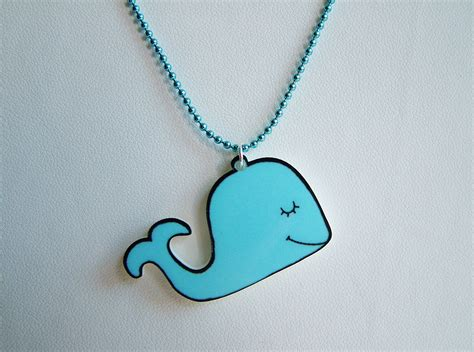 how to make laser cut acrylic jewelry pale blue whale acrylic laser cut necklace kawaii