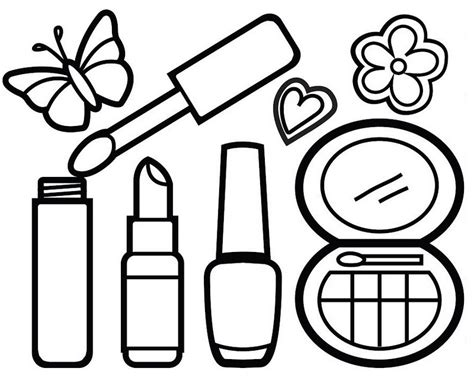 makeup coloring pages awesome makeup kit coloring page for your princess