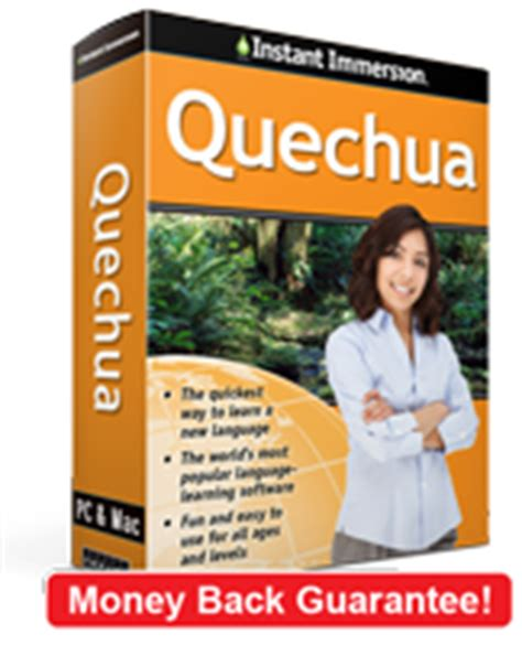 rosetta stone quechua learn quechua with instant immersion