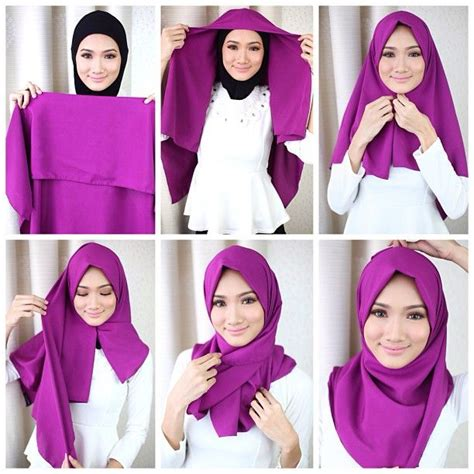 gambar tutorial hijab zoya segi empat tutorial hijab modern kerudung segi empat terbaru kreasi