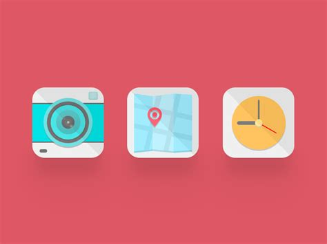 design icon for ios app 30 best exles of modern flat icon set mkels com