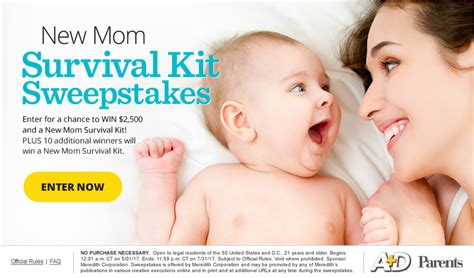 magazine sweepstakes parents com survivalkitsweeps win ultimate survival kit