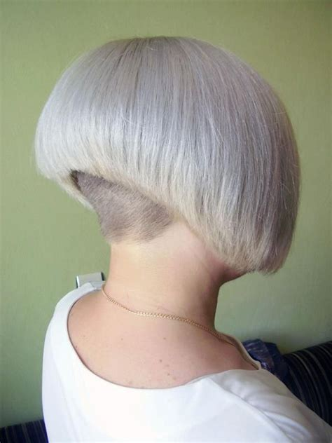 very short bob bald nape shaved nape haircut stories hair