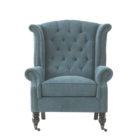 Teal Arm Chair by Home Decorators Collection Milo Chenille Teal Polyester