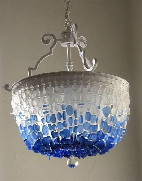 sea glass chandelier lighting flush mount ceiling light