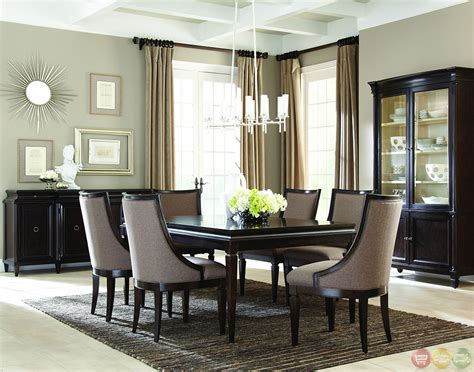 Contemporary Dining Room Sets by Classics Contemporary Brindle Finish Formal Dining Set