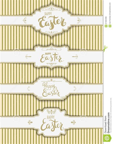 label card template set of the happy easter labels templates stock vector