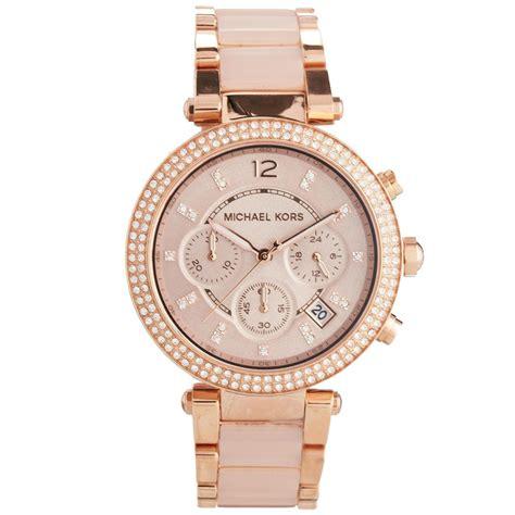 michael kors gold blush chronograph