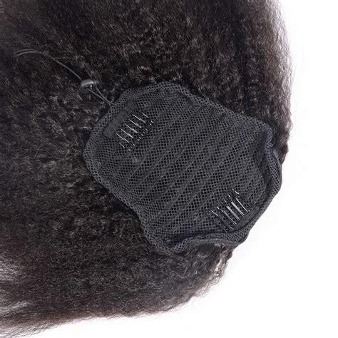 kinky textured drawstring ponytail 8 26 inch kinky straight ponytail human hair drawstring