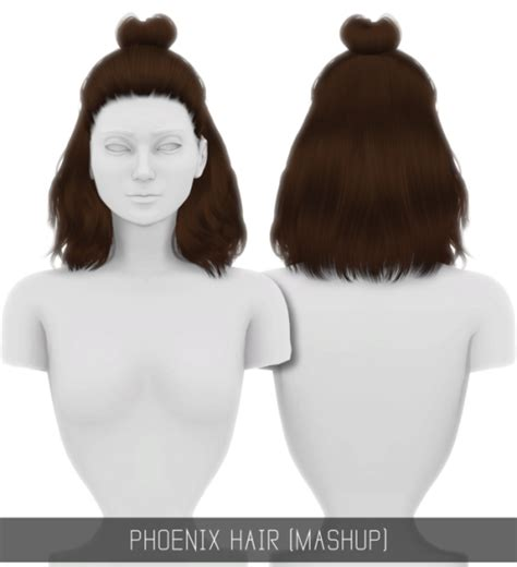 simplicity hair cc sims 4 sims 4 cc s the best phoenix hair mashup patreon by